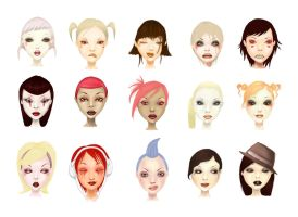 Faces by chikaex0tica