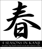 Kanji Seasons Brushes by faelivrinen-stock