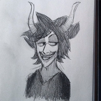 Gamzee Sketch by InvaderSonicMx