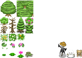 Plant and object RPG tiles by Lee0z