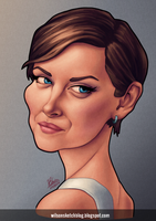 Jessica Stroup (Caricature) by wilson-santos