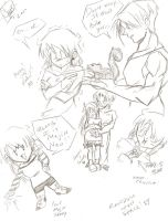 Sammy and Trunks Sketches by Swamnanthas