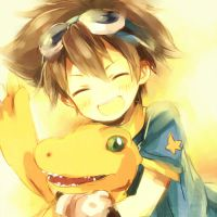 Tai and Agumon by AgentSkyBear