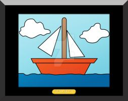 The Simpsons Sail Boat by Ryan-Warner
