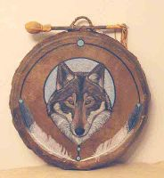 """Circle Song"" Drum by Foxfeather248"