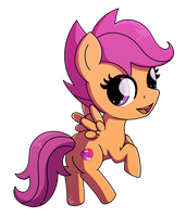 [Commission Example] Chibi Scootaloo by ForeverRoseify