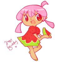 Xenny the Watermelon by Ruhianna