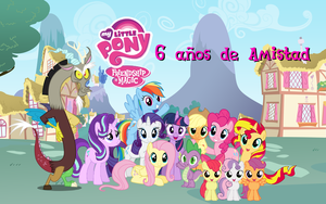 My Little Pony - 6 anhos de Amistad by AndresToons