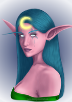Night elf druid: Painetsuki by Paine-MoonG