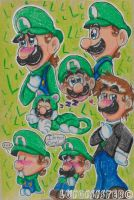 .:Luigi Appreciation Doodles:. by luigisister
