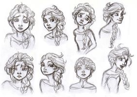 Elsa Doodles by ledeir15