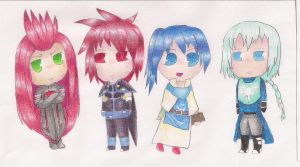 Tales Chibis Colored by angelsoflight