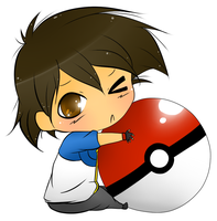 Chibi Ash X3 by mandaangel96