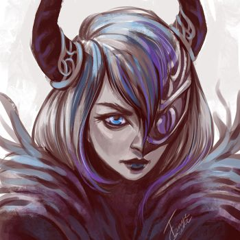 speedpainting - demongirl by TanyaGreece