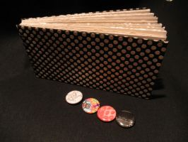 Poka Dot Book and Pins by Pepper-Dragon