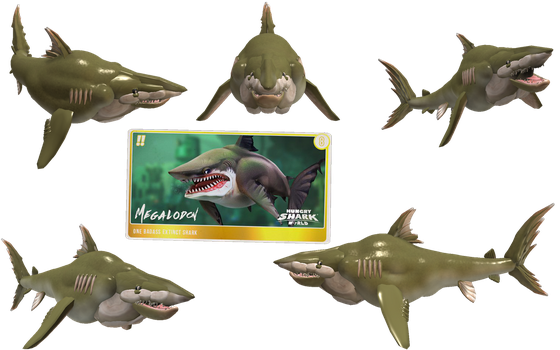 Spore Creature: Megalodon (Hungry Shark World) by Evilution90