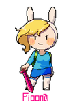 Adventure time Fionna dot chibi by greenflake2253