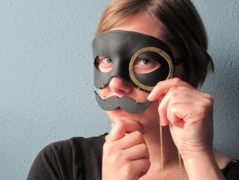 The Dapper Gentlemen Leather Masquerade Mask by maskedzone