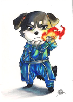 I LOOOVEE DOGS! Roy Mustang puppy + SPEEDPAINT! by Capukat