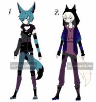 punk kemonomimi adoptables open 1/2 by AS-Adoptables