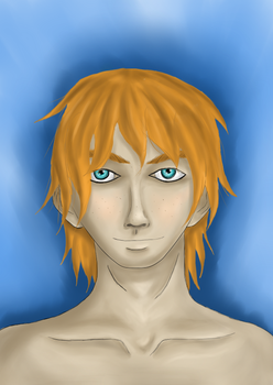 Orange Haired Person (for uni) by xXFireFistAceXx