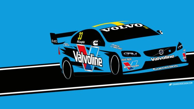 Scott McLaughlin Wallpaper - Vector Illustration by GrangerDesign