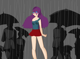 Alone in the rain.. by katieleesa