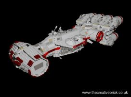 Lego Set 10019 - Rebel Blockade Runner by thecreativebrick