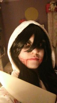 Jeff the Killer Makeup by TuneoftheMoon