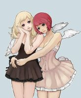 Angel Duo by bluwings
