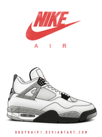 Air Jordan 4 OG 'White Cement' by BBoyKai91