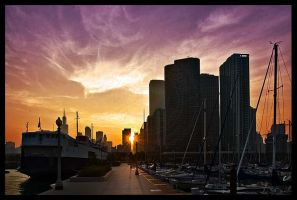 Chicago at Sunset - Ver. 2 by PatrickTCPope
