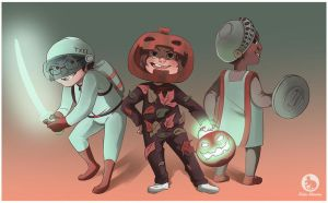Costume Quest by gingerbreadcat