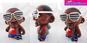 Kanye West Mini Munny Custom by scavenjer