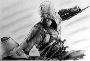 Altair Drawing - Assassin's Creed Fan Art by LethalChris
