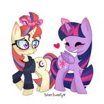 [MLPFiM] Moondancer x Twilight by SilverSweety