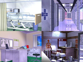 Various Hospital Rooms by Vixeria