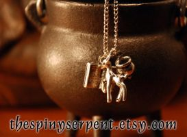 Severus Snape Charm Cluster Necklace by kittykat01