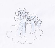 MLP Kids drawing 3 Snowdrop by Znegil
