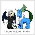 Com 5-Deinah and Unicornmon by kaiverta