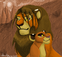 Kiah and Daddy (2008 Work) by KoLioness