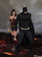 Diana feels Safe with Bruce by 3d-lucas