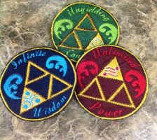 Zelda Triforce patches by forensicfox