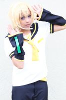 Len Kagamine Cosplay: Vocaloid by Awesome-Vivi