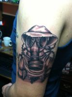 Gas Mask Tattoo by ngoc50