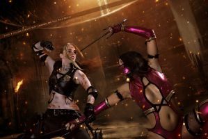 Sonya Blade and Mileena - Mortal Kombat by WhiteLemon