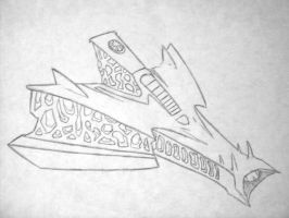 Devil Ship in Pencil by systemcat