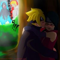 Boruto and Sarada Secret love?!  (shadow version) by ambarnarutofrek1