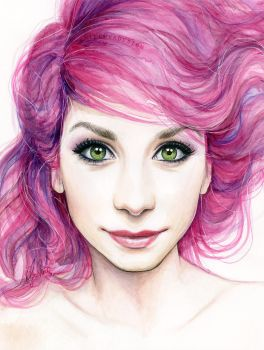 Girl with Magenta Hair by Olechka01
