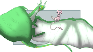 Commission - Emeriss and Mew by Blue-Dragons-Fan